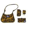 Alice Zinn Leopard Print Faux Fur Four Piece Handbag Set