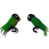 Alice Zinn Pair of Black Masked Green Love Birds