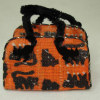 Alice Zinn Halloween Cat Pet Tote Carrier with Black Cats