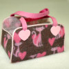 Alice Zinn Handcrafted Cat Pet Tote Carrier with Hearts