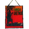 Alice Zinn Stained Glass Suncatcher - Kwanzaa Greetings