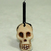 Alice Zinn Handcrafted Large Halloween Skull Candle