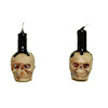 Alice Zinn Handcrafted Pair of Halloween Skull Candles
