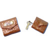 Alice Zinn Brown Leather Ladies Clutch and Key Case Set