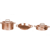 Copper Metal Pot and Pan and Wok Set
