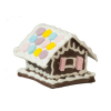 Gingerbread House with Pastel Candy Roof