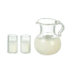 Pitcher of Milk with Filled Glasses Set