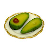 Bette Accola Handcrafted Avocado on a Plate