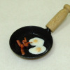 Bette Accola Handcrafted Bacon and Eggs in Frying Pan