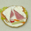 Bette Accola Handcrafted Ham and Cheese Sandwich Plate