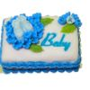 Bette Accola Handcrafted Blue Baby Shower Cake