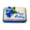 Bette Accola Handcrafted Blue Happy Birthday Cake