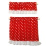 Handcrafted Country Cottage Red Heart Cafe Curtains
