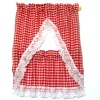 Hand Crafted Red Gingham Check Tier Kitchen Curtains