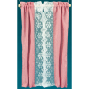 Rose Pink Taffeta And White Lace Curtains