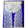 Hand Crafted Full Length White Lace Double Window Drape