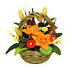 Tropical Orange Flower Arrangement in Basket