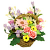 Handcrafted Large Flower Bouquet in Basket