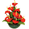 Handcrafted Red Anthurium Flamingo Lily Flower