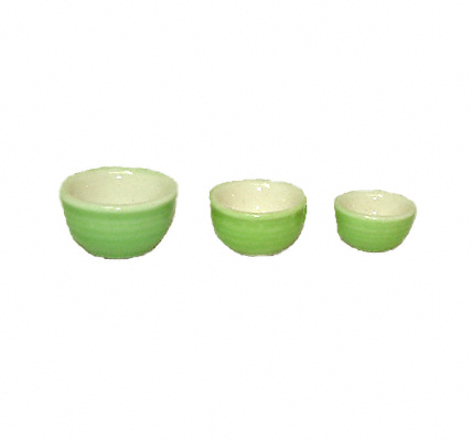 Light Green Ceramic Mixing Nesting Bowl Set