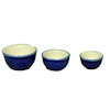 Royal Blue Ceramic Mixing Nesting Bowl Set