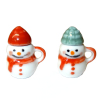 Pair of Ceramic Christmas Snowman Mugs