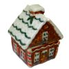 Opening Ceramic Christmas Gingerbread House Cookie Jar