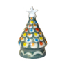 Handpainted Ceramic Christmas Tree with Silver Star