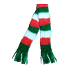Red Green and White Striped Christmas Scarf