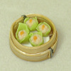 Handcrafted Shu Mai Dumplings in Dim Sum Steamer Basket