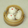 Handcrafted Steamed Buns in Dim Sum Steamer Basket