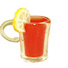 Handcrafted Filled Glass Cup of Punch