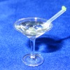 Handcrafted Martini In Glass With Olive and Stirrer