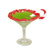Handcrafted Christmas Candy Cane Cocktail in Martini Glass