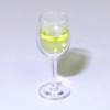 Handcrafted Glass Of White Wine in a Glass Wine Glass
