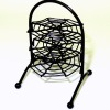 Halloween Three Tier Metal Spider Web Wire Shelf Stand