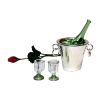 Wine Bottle Cooler Glasses and Rose Valentine Day Romance Set