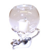 Glass Globe Hurricane Lamp on Cat Shape Stand