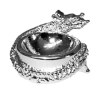 Halloween Dragon or Snake Silver Metal Bowl