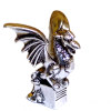 Halloween or Asian Metal Dragon Statue with Wings