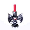 Red Eyed Bat Gargoyle With Red Halloween Candle