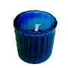 Red Candle in Blue Glass Deluxe Votive Holder