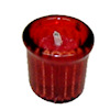 Christmas Candle in Red Glass Deluxe Votive Holder