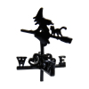 Halloween Witch on Broom with Black Cat Weather Vane