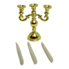 Gold Candelabra With Candles