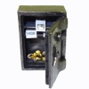 Opening Aged Metal Combination Safe with Bunches of Money