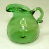 Handcrafted Emerald Green Glass Pitcher