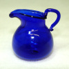 Handcrafted Cobalt Blue Glass Pitcher