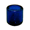 Blue Glass Votive Candle Holder