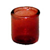 Red Glass Votive Candle Holder
